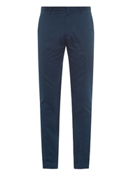 Burberry Stirling Slim Fit Cotton Trousers