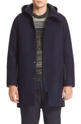 Acne Studios Men's Milton Raw Cut Wool Hooded Coat
