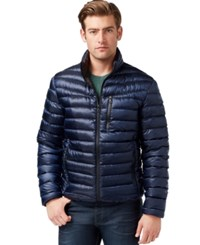 Inc International Concepts Irridescent Down Jacket Blue