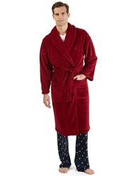 Nautica Plush Shawl Collar Robe Red