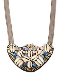 Inc International Concepts M. Haskell For Inc Gold Tone Shell Inspired Statement Necklace Only At Macy's Ivory