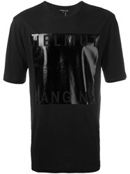 Helmut Lang Metallic Square T Shirt Black