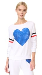 Wildfox Couture Classic Heart Sweatshirt Clean White