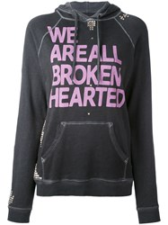 Freecity We Are All Broken Hearted Hoodie Women Cotton S Grey