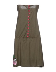 Tokidoki Short Dresses Military Green