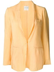 Forte Forte Satin Blazer Yellow