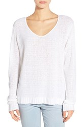 Women's Cotton Emporium V Neck Sweater White