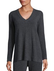 Natori Long Sleeve Cashmere Sweater Charcoal