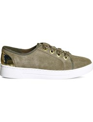 Office Adore Suede Trainers Khaki