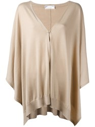 Brunello Cucinelli Flared Cardigan Nude Neutrals