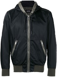 Diesel Hooded Anorak Jacket Black