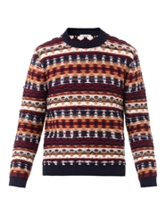 Valentino Reverse Knit Crew Neck Sweater