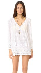 Ondademar Hand Embroidered Tunic White