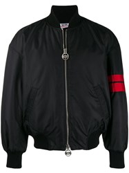 Gcds Fitted Bomber Jacket Black