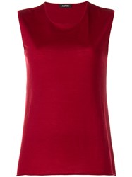 Aspesi Sleeveless Knit Top Red