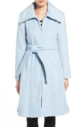 Women's Eliza J Brushed Wool Blend Fit And Flare Coat