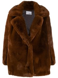 Each X Other Vegan Mink Coat Brown