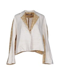 Rosamunda Suits And Jackets Blazers Women Beige