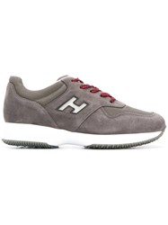 Hogan Interactive Lace Up Sneakers Grey