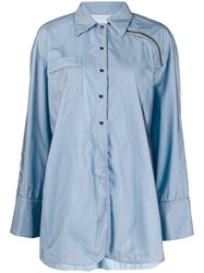 Marco De Vincenzo Shoulder Zip Oversized Shirt 60