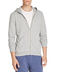 Atm Anthony Thomas Melillo French Terry Zip Hoodie Heather Grey