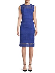 Abs By Allen Schwartz Embroidered Lace Sheath Dress Royal Blue