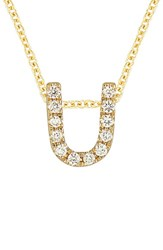Bony Levy Women's Pave Diamond Initial Pendant Necklace Nordstrom Exclusive Yellow Gold U