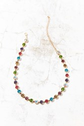 Urban Outfitters Eleni Rainbow Choker Necklace Gold
