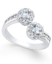 Macy's Diamond Two Stone Engagement Ring 1 Ct. T.W. In 14K White Gold
