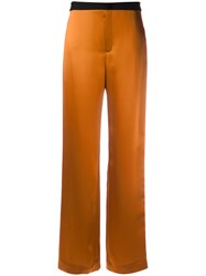 Lanvin Two Tone Relaxed Fit Trousers Yellow Orange