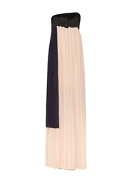 Issa Femke Pleated Georgette Strapless Gown