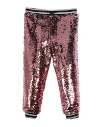 Milly Minis Moveable Sequin Jogger Pants Size 4 7 Pink