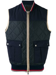 Salvatore Ferragamo Quilted Gilet Men Polyester 52 Blue