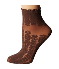 Falke Amulet Anklet Chocolate Women's Crew Cut Socks Shoes Brown