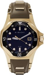 Givenchy Brown And Gold Five Shark Watch