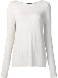 Atm Anthony Thomas Melillo Crew Neck T Shirt Nude And Neutrals