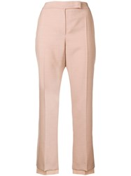 Max Mara Cropped Tailored Trousers Pink