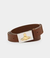 Vivienne Westwood Square Buckle Brown Belt
