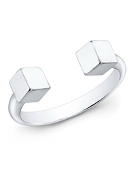 Vita Fede Ultra Mini 24K Sterling Silver Cubo Ring Sizes 6
