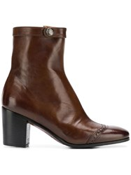 Alberto Fasciani Heeled Ankle Boots Brown