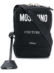 Moschino Contrast Logo Shoulder Bag Black