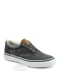Sperry Striper Cvo Salt Washed Canvas Sneakers Navy