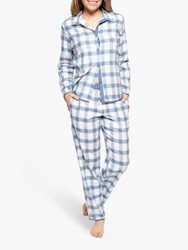 Cyberjammies Harper Check Pyjama Set White Navy