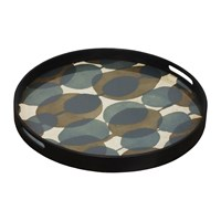 Notre Monde Connected Dots Glass Tray Round Small