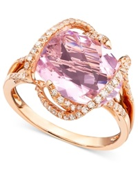Effy Collection Gemma By Effy Pink Amethyst 7 3 4 Ct. T.W. And Diamond 3 8 Ct. T.W. In 14K Rose Gold