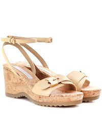 Stella Mccartney Faux Leather Wedges Neutrals
