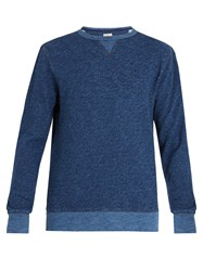 Faherty Crew Neck Cotton Sweatshirt Blue