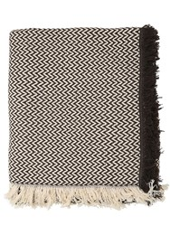 Les Ottomans Wool And Silk Blend Throw