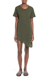 Women's Lna Asymmetrical Hem Shift Dress Army