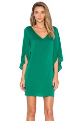 Milly V Neck Butterfly Sleeve Dress Green